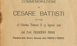 Commemorazione di Cesare Battisti